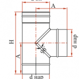 Тройник 90° с изоляцией