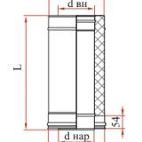 Труба L = 1000 с изоляцией